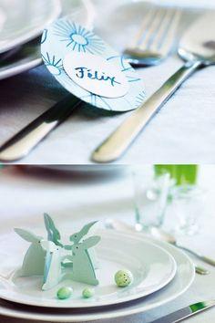 Des marque place en papier pour Pâques