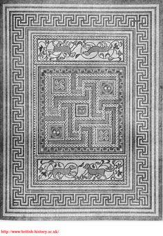 Wellows (UK) Roman villa floor mosaic