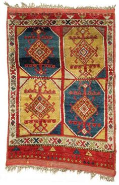 A Rare Antique Late 18th Century Anatolian Turkish Yörük (Nomadic-Tribal) Konya (Central Anatolia) Rug, Turkey.