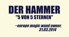 """""""Der Hammer"""" - German owner of #EuropeMagicWand wand massager. #5outof5 stars for @EuropeMagicWand. Get more info at www.europemagicwand.de"""
