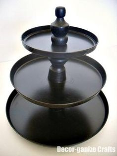 cupcake stand... made out of stove burner covers from the dollar store.. by lana