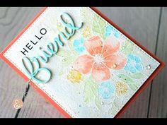 C9 Hello Lovely | Tombow Markers | Color Throwdown 435 Tombow Markers, Concord And 9th, Interactive Cards, Card Maker, Watercolor Cards, Paper Crafts, Card Crafts, As You Like, Greeting Cards