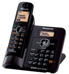 #Panasonic Single Line 2.4GHz KX-TG3811SXB #Digital_Cordless_Telephone (Black) Buy Now Price: INR 4,639.00