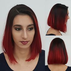 Cut and colour that I did today on @tarzandesbois. I used Wella Blondor to prelighten her hair then the ever so fantastic crazy colour in Vermillion Red  I am absolutely in love with how this turned out #bbloggers #shorthairdontcare #redhair #balayage #alinebob #bob #wellaprofessional
