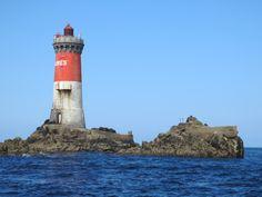 Le phare des Pierres Noires en mer d'Iroise, Le Conquet, Finistère, Bretagne