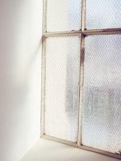 • silver window frame
