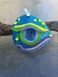 Dragon Eye Pendant - Blue, Green, Yellow and Purples by TNTPatterns on Etsy