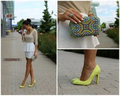 pop of color with neon heels style