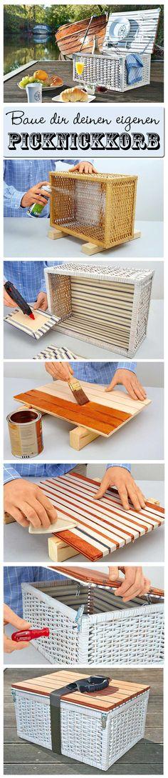Wieso kaufen, wenn man einen Picknickkorb auch selbst machen kann? Wir zeigen im DIY, wie man den perfekten Korb für ein gemütliches Picknick selbst baut.