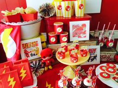 Fantastic Flash birthday party! See more party ideas at CatchMyParty.com!