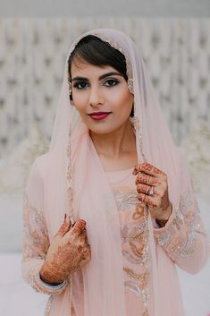 The Beautiful Indian Bride getting ready for her Nikkah. Love her bridal Henna designs! Beautiful Indian Brides, Bridal Henna Designs, Bride Getting Ready, Bridal Looks, Beautiful Moments, Hair Designs, Muslim, Wedding Venues, Vogue