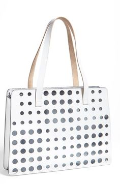 Marni polka dot tote. Nice twist on nautical styling which is back for spring.