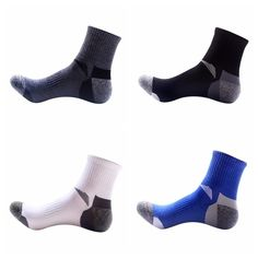 How do you know what the best outdoor socks are? Look for cushion, taller or shorter length, and natural or synthetic fibers. These socks are made for men and one size fits all! They are great socks to use with any outdoor activity. Hiking Socks, Running Socks, Sport Socks, Sport Wear, Quick Dry, One Size Fits All, Sport Outfits, Cycling, Outdoor