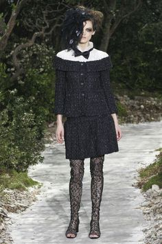 Romantic Goth Runway - Chanel Spring Couture 2013