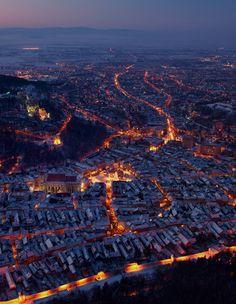 Brasov at night | Romania (by Barbu Seabastian)