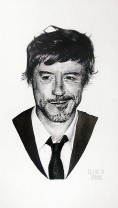 Robert Downey Junior by Romane WACH. (www.facebook.com/dessinsromane)