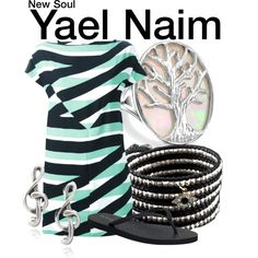 Inspired by Yael Naim in her 2008 music video for New Soul - Shopping info! New Soul, Tv Show Outfits, Disneybound, Bling Jewelry, Kenzo, Chan Luu, Music Videos, Personalized Items, Shoe Bag