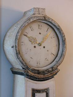 19th Cent Painted Swedish Mora Clock