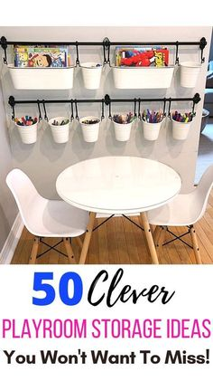 50 Clever Playroom Storage Ideas You Won't Want To Miss - My Kids Blog Playroom Table, Small Playroom, Toddler Playroom, Playroom Furniture, Playroom Design, Kids Room Design, Playroom Decor, Cheap Playroom Ideas, Small Kids Playrooms