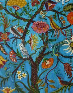 Tree Of Life III -Open edition print by Catherine Nolin Color Of Life, Canvas Artwork, Framed Canvas, Framed Prints, Fine Art Paper, Online Art, Illustration, Folk Art, Fine Art Prints