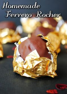 Homemade Ferrero Rocher