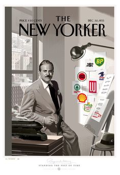 The New Yorker, (Branding) Standing the Test of Time, Dec. 30, 1953. | Illustration by Laurent Durieux.