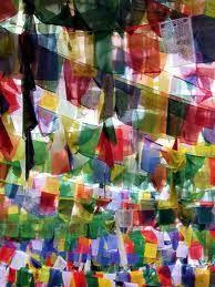 tibetan prayer flags. i'm obsessed.