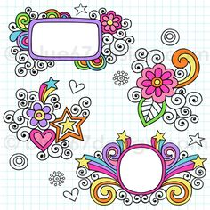 Hand-Drawn Notebook Doodle Frames- Vector Illustration by blue67design by blue67design, via Flickr