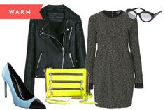 Topshop Boucle Sweater Dress,  76, available at Topshop  Zara Motorcycle  Jacket,  59.99 d783c0920f63
