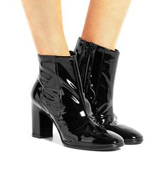 Balenciaga Patent-Leather Chelsea Boots