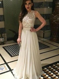 Chiffon Long Prom Dress,A line Prom Dress,Lace Appliques Prom Dress,Charming Prom Dress,Formal Evening Dress For Dress 2016,
