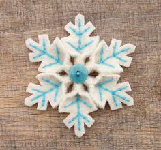 Snowflake Pin by WanderingLydia, via Flickr