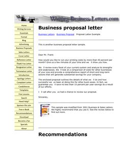 free business proposal letter how write employee reference