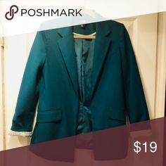 Green Blazer Forest green Forever 21 Blazer. Great condition. Forever 21 Jackets & Coats Blazers