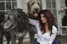 Roma Downey and her Irish Wolfhounds  http://25.media.tumblr.com/tumblr_m6wymzcZCY1r988mro1_500.jpg