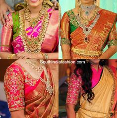 elbow_length_blouse_designs_for_wedding_kanjeevaram_sarees.jpg 760×767 pixels