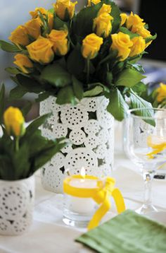 yellow wedding decor  grandwedding.gr
