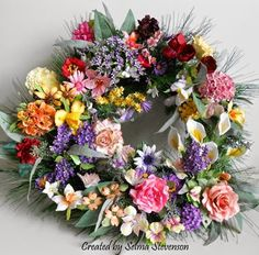 Selma's Stamping Corner and Floral Designs: Susan's Garden Flower Wreath