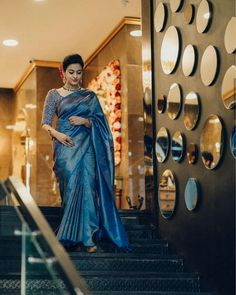 South Indian Wedding Saree, Wedding Silk Saree, Christian Wedding Sarees, Silk Saree Kanchipuram, Silk Sarees, Indian Sarees, Engagement Saree, Sarees For Girls, Indian Fashion Dresses