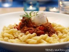 Spagetti Bolognese Spaghetti Bolognese, Frisk, Risotto, Macaroni And Cheese, Cravings, Bacon, Food And Drink, Pasta, Dinner