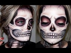 SKELETON / SKULL MAKEUP TUTORIAL | Brianna Fox - YouTube