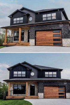Dream Home Design, Modern House Design, Modern House Exteriors, Big Modern Houses, Modern Brick House, Barn House Design, Cottage Design, Cool House Designs, Metal Building Homes
