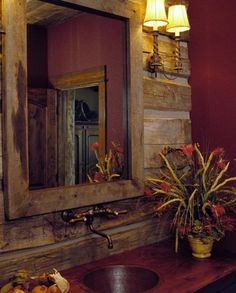 Rustic Bathroom Ideas!  http://fabuloushomeideas.com/wp-content/uploads/2013/05/Rustic-Bathroom.jpg