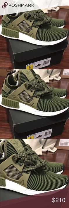 100% Authentic NMD XR1 - Olive Size 5us men = 7us women. Ignore the pic of the box showing size 6. That one is SOLD OUT. Only 5us men / 7us women available. Hurry ✔️ Adidas Shoes Athletic Shoes
