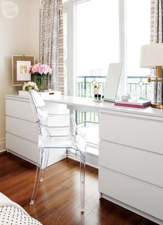 My Ikea Malm Dresser Hack The Pink Dream. 40 IKEA Malm Dresser Hacks ComfyDwelling Com. Askvoll Similar Ikea Nyvoll Dressers Home Improvement . Home and Family Ikea Malm Series, Ikea Home Tour Series, Ikea Malm Dresser, Dresser Desk, Diy Dressers, Vanity Desk, White Desk And Dresser, Ikea Malm Table, Malm Drawers