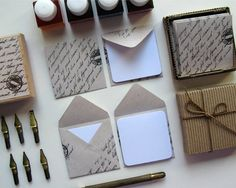 mini stationary set - recycled paper handwritten by Ciaffi