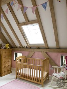 Girls bedroom ideas - timber framed bedroom by Carpenter Oak Ltd Cosy Bedroom, Girls Bedroom, Bedroom Ideas, Master Bedroom, Bedrooms, Border Oak, Oak Framed Buildings, Oak Frame House, Timber Architecture
