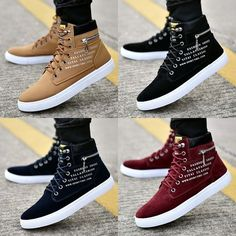 Men fashion casual 806918458224370977 - Size Fashion Men Casual Shoes Canvas Botas Comfortable Sneakers Source by Mens Fashion Casual Shoes, Fashion Boots, Sneakers Fashion, Fashion Men, Men Casual, Casual Winter, Winter Fashion, Men's High Top Sneakers, Casual Sneakers