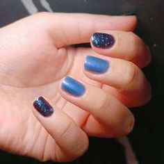 โทนสีฟ้า น้ำเงิน Glitter Nail Art, Blue Nails, Aqua, Dark, Beauty, Water, Blue Nail, Beauty Illustration, Bling Nail Art