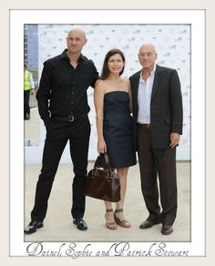 Patrick Stewart with Children Daniel and Sophie